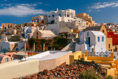 White houses in Oia, Santorini, Greece Stock Photography