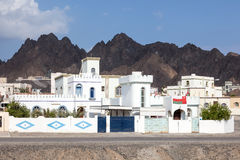 White houses in Omani village Royalty Free Stock Images