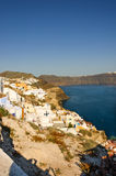 White houses over the Caldera Royalty Free Stock Photography