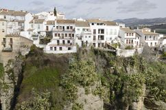 White houses over the gorge Royalty Free Stock Photos