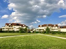 Residential area in Ferney-Volter, France stock photo