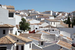 White houses in Ronda, Spain Royalty Free Stock Photography