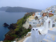 White houses on Santorini island Stock Photography