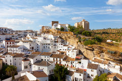 White houses in Setenil de las Bodegas Stock Images