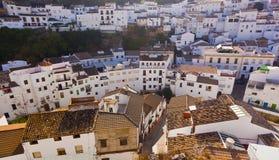 White houses in Setenil de las Bodegas small town Royalty Free Stock Photography