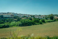 White houses in the spanish countryside of Cordoba, Spain, Europ Royalty Free Stock Photography