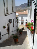 Zahara de la Sierra, Spain. Typical white houses in Zahara de la Sierra, Andalusia, Spain stock image