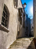 Ostuni, Italy. Street with white houses in Ostuni, Italy Stock Image