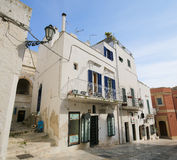 White houses in a street in Ostuni, Puglia, Italy Royalty Free Stock Photography