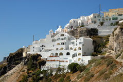 White houses in Thira, Greece Royalty Free Stock Photography