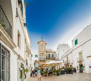 White houses of village in Apulia royalty free stock image