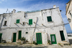White houses in the White City Ostuni in Puglia, South Italy Royalty Free Stock Photo