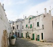 White houses in the White City Ostuni in Puglia, South Italy Royalty Free Stock Images