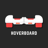 White hoverboard icon like toy Royalty Free Stock Image