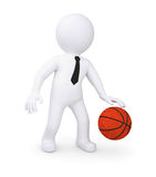 White human playing basketball Stock Image