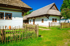 White huts in open-air museum of Liptov, Slovakia Stock Photo