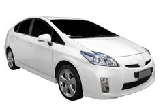 White hybrid car Stock Photography