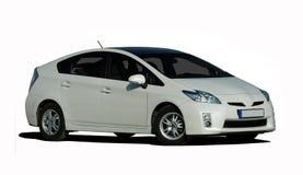 White hybrid car Royalty Free Stock Photography