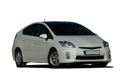 White hybrid car Stock Images