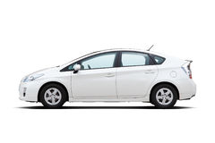 White hybrid vehicle Stock Image