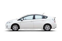 White hybrid vehicle Stock Image