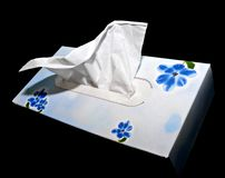 White hygienic handkerchief Stock Photos
