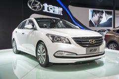 White hyundai mistra car Royalty Free Stock Photo