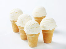 White ice cream cones Royalty Free Stock Photo