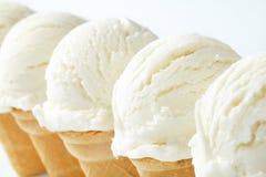 White ice cream cones Stock Photo