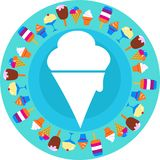 White ice cream icon Royalty Free Stock Photos