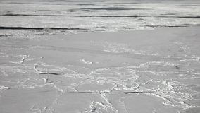White ice of White Sea in Russia. Wild nature stock video footage