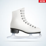 White ice skates Royalty Free Stock Images