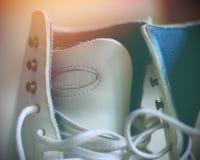 White ice skates Royalty Free Stock Images