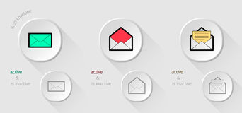 White Icon email Royalty Free Stock Photos