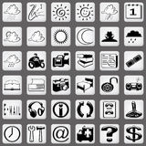 White icon set Part 1 Stock Image