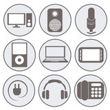 White icons Stock Photography