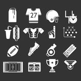 White icons monochrome collection for American Royalty Free Stock Images