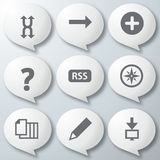 White icons set Stock Photo