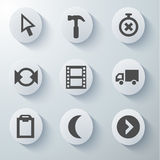 White icons set Royalty Free Stock Images