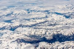 White Icy Mountain Royalty Free Stock Photos