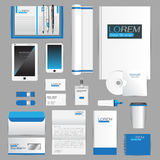 White identity template with blue origami elements. Vector compa Royalty Free Stock Image