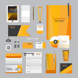 White identity template with origami elements. Vector company style for brandbook guideline and Pens mugs CDs books business Royalty Free Stock Photography