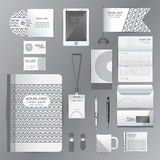 White identity template with gray origami elements. Vector compa Stock Photography