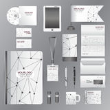 White identity template with gray origami elementsVector company Stock Images