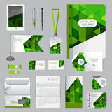 White identity template with origami elements. Vector company st Stock Photos