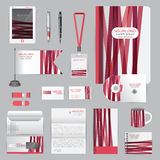 White identity template with origami elements. Vector company st Stock Images