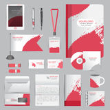 White identity template with origami elements. Vector company st Royalty Free Stock Images