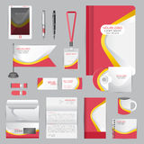 White identity template with origami elements. Vector company st Royalty Free Stock Photography