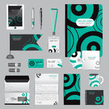 White identity template with origami elements. Vector company st Stock Image