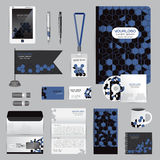 White identity template with origami elements. Vector company st Stock Photography
